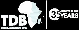 TDB 35th Anniversary Logo white copy